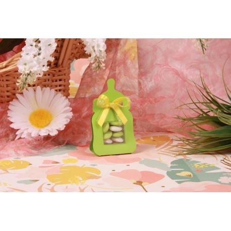 Biberon vert - Boîtes à dragées - Dragées Braquier