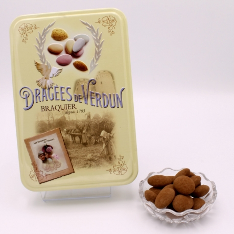 "Gâtine de Braquier, ""Love and Sweets"" metal-box 400 g - Dragées Braquier, confiseur chocolatier à Verdun"