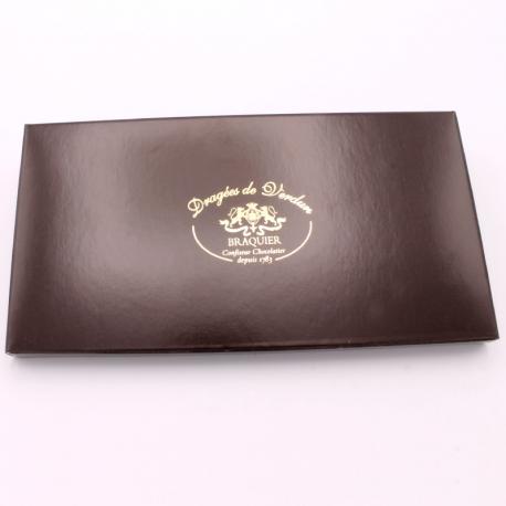 Tablette de chocolat noir de 105gr - Dragées Braquier, confiseur chocolatier à Verdun
