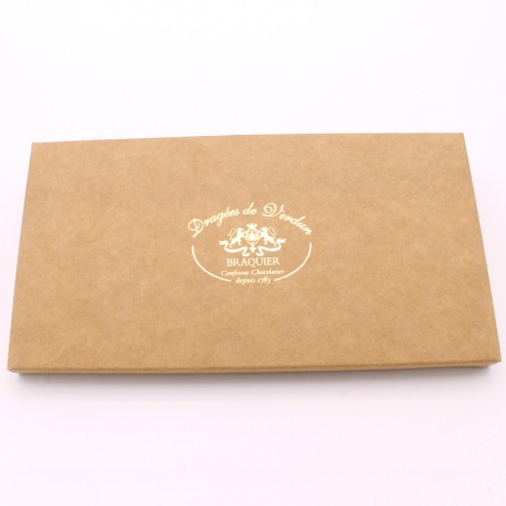 Tablette de chocolat lait de 105gr - Dragées Braquier, confiseur chocolatier à Verdun