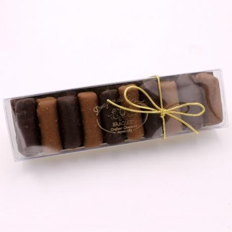 Bûchettes pâte d'amande, Réglette 200 g - Dragées Braquier, confiseur chocolatier à Verdun