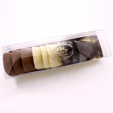 Tuiles, Boîte de 9 chocolats - Dragées Braquier, confiseur chocolatier à Verdun