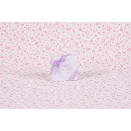 Fleur sur tulle mauve - Boîtes à dragées - Dragées Braquier