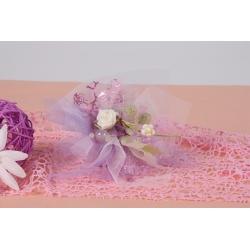 Bouquet fleur mauve - Boîtes à dragées - Dragées Braquier