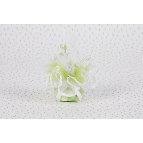 Piquet plume sur tulle - Boîtes à dragées - Dragées Braquier