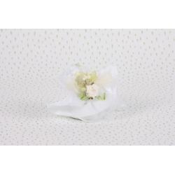 Piquet rose sur tulle blanc - Boîtes à dragées - Dragées Braquier