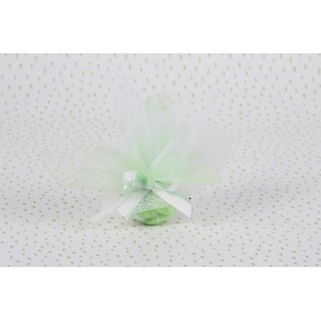Feuille blanche sur tulle - Boîtes à dragées - Dragées Braquier