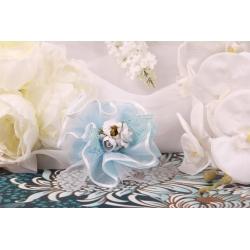 Bouquet bleue sur tulle