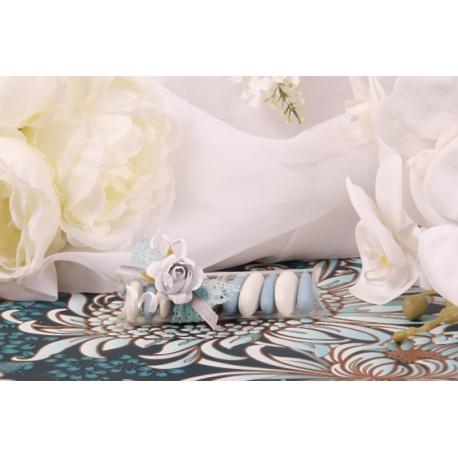 Fleur bleue sur réglette
