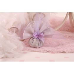 Tulle taupe et lilas papillon