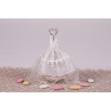 Robe de mariée ivoire - Boîtes à dragées - Dragées Braquier