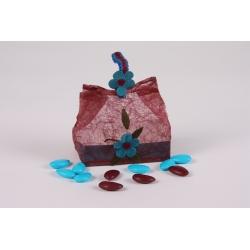 Bourse bleu - Boîtes à dragées - Dragées Braquier