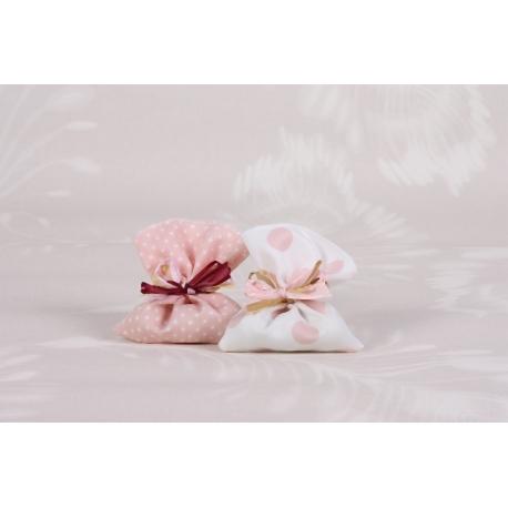 Pochon rose en duo - Boîtes à dragées - Dragées Braquier