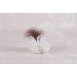 Tulle dentelle écru - Boîtes à dragées - Dragées Braquier