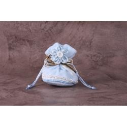 Pochon fleur vichy - Boîtes à dragées - Dragées Braquier