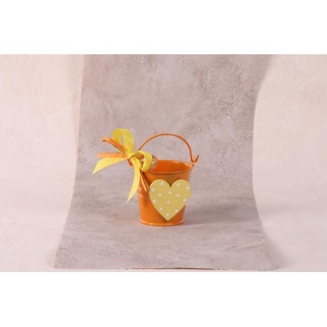 Seau orange - Boîtes à dragées - Dragées Braquier
