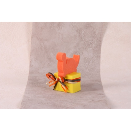Dino orange - Boîtes à dragées - Dragées Braquier