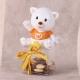 Chat orange sur boite - Boîtes à dragées - Dragées Braquier