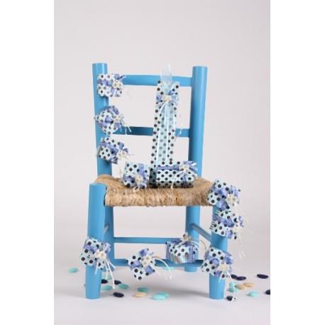 Chaise bleueSupport à dragées - Dragées Braquier