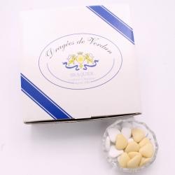 Chocolate heart, Cardboard-box 1 kg - Dragées Braquier, confiseur chocolatier à Verdun