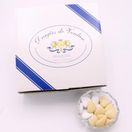 Cœur chocolat, Boîte de 1 kg - Dragées Braquier, confiseur chocolatier à Verdun