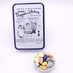 """Tout Avola, Boîte métal """"Certifiées Braquier"""" 400 g - Dragées Braquier, confiseur chocolatier à Verdun"""