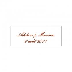 Lot d'étiquettes personnalisées Marron Clair - Étiquettes pour boîtes à dragées - Dragées Braquier