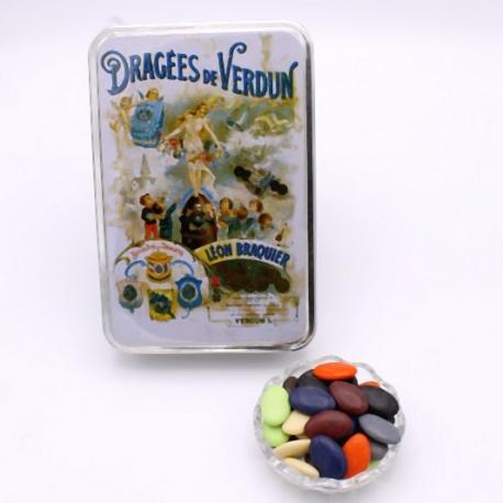 """Arc-en-Ciel, Boîte métal """"Affiche"""" 400 g - Dragées Braquier, confiseur chocolatier à Verdun"""
