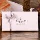 Écrin Vendôme ruban blanc et gris - Boîtes à dragées - Dragées Braquier