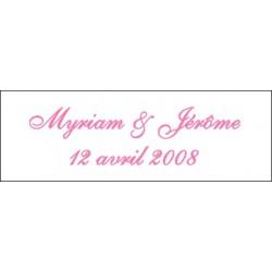 Lot d'étiquettes personnalisées Rose pâle - Étiquettes pour boîtes à dragées - Dragées Braquier