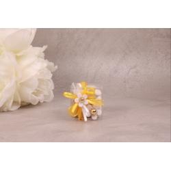Cube fleur blanche