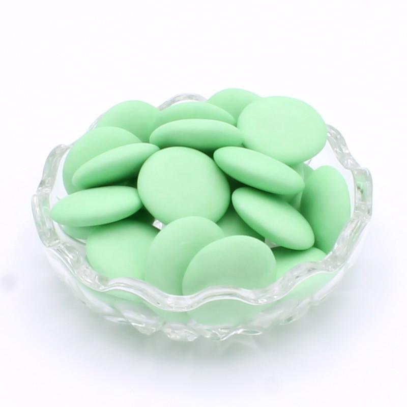 Disques chocolat vert