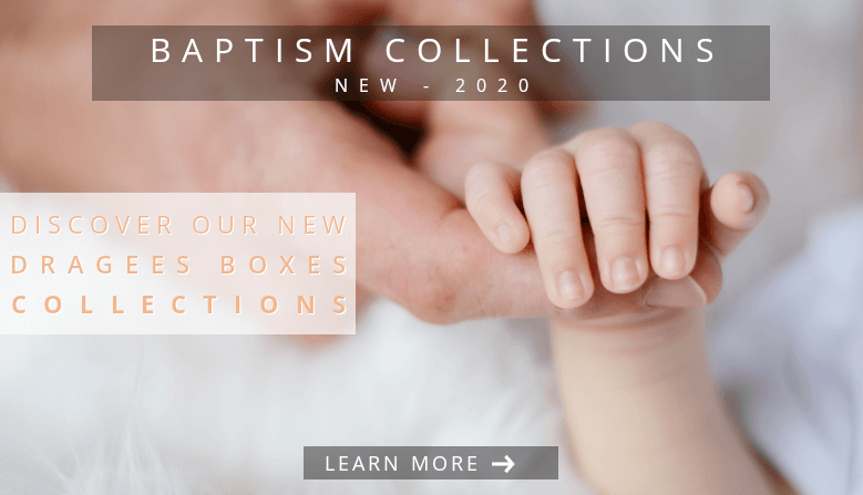 New collections baptism dragees boxes