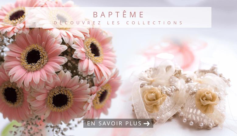 Nouvelles collections Boîtes à dragées Baptême